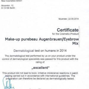 сертификат на пигменты для бровей purebeau