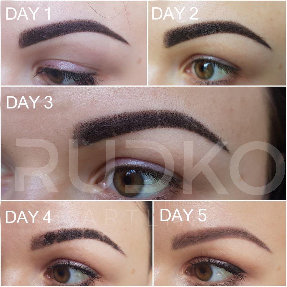 Powder Eyebrows Permanent Makeup
